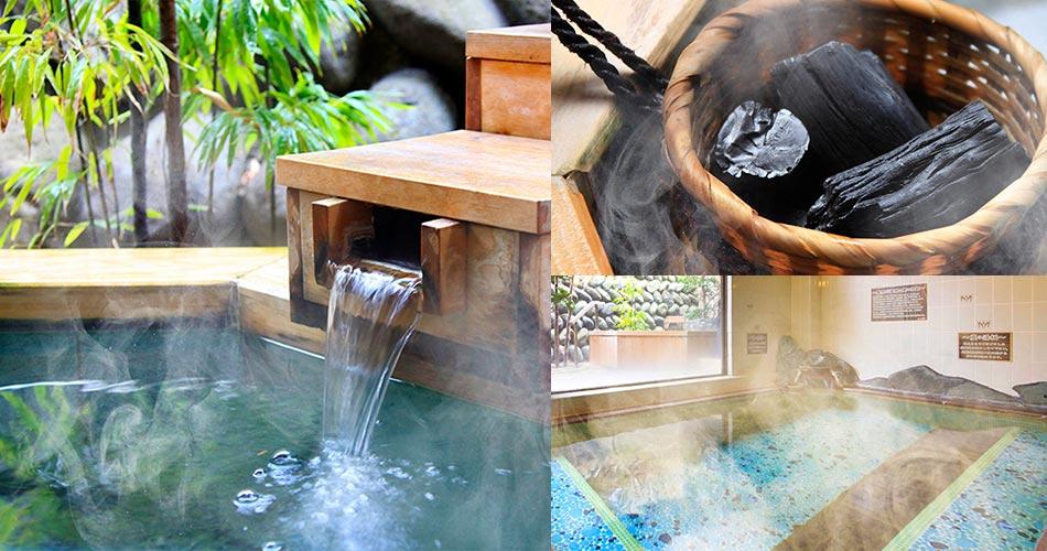 炭の魚籠と湯板が鬼怒川温泉のお湯をよりまろやかに。ゆったりと浸かって、癒しのひとときをお過ごしください。 MORE
