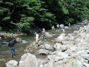 渓流岩魚釣り大会