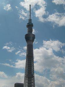 東京スカイツリーが日光鬼怒川の空に