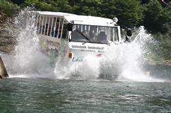 「水陸両用バス」で行くダムとダム湖探検ツアー2010